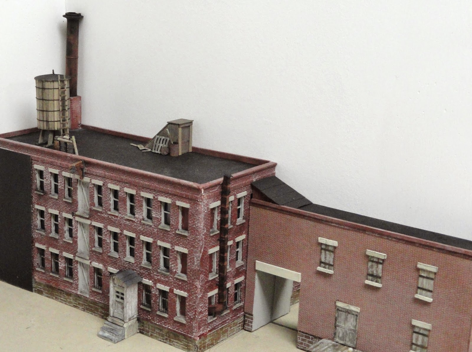 I Have Added Some Details To The Roof Of The Main Building. These Details  Include A Water Tower, A Smoke Stack, A Roof Access Door, And Some Other  Small ...