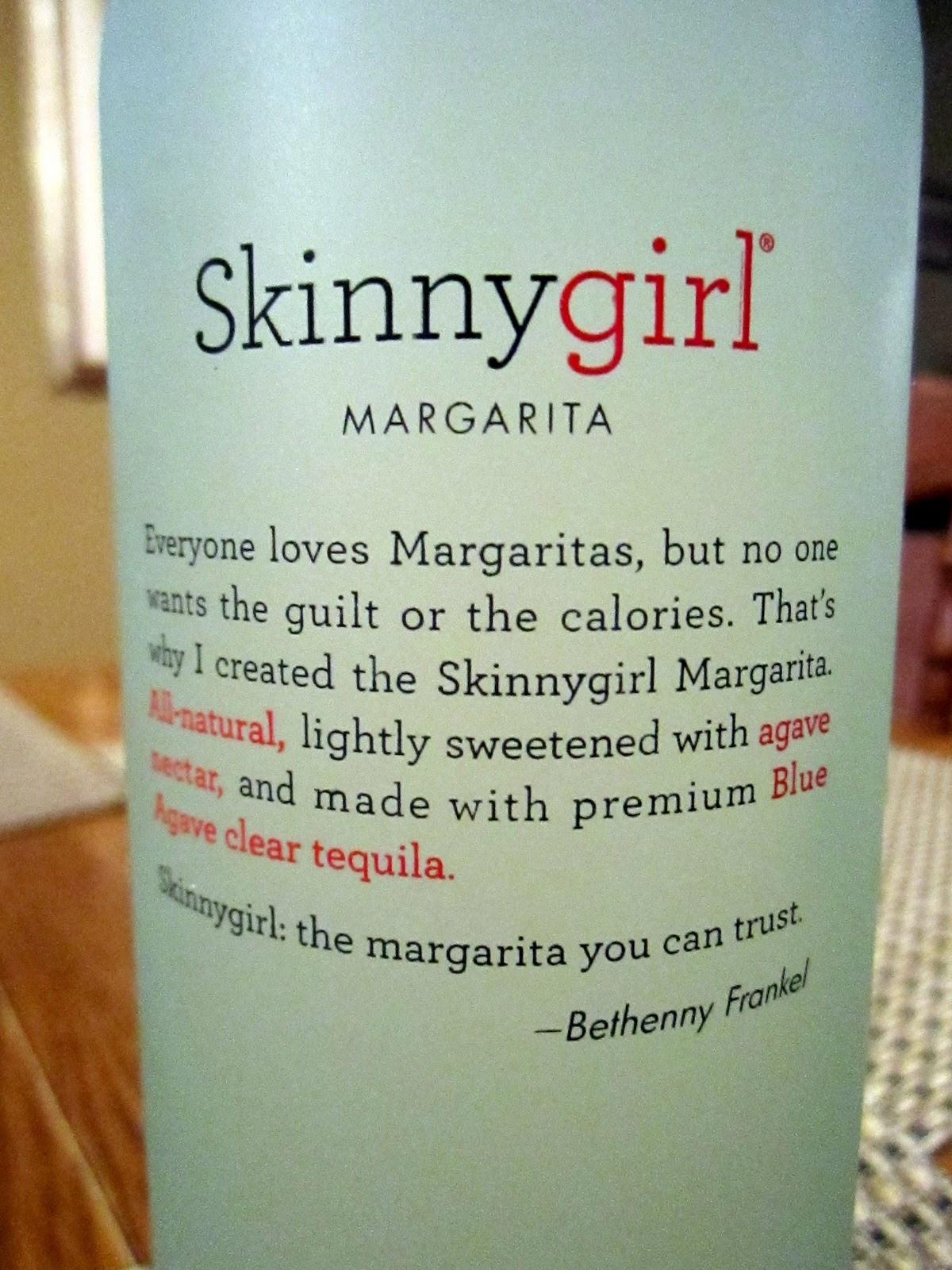 girl margarita bottle Skinny