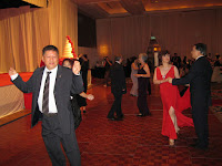 Members of the guest dancing to the beat of the live band