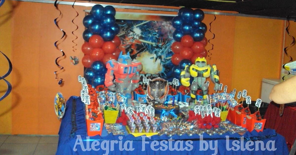Alegria Festas by Islena Festa dos Transformers