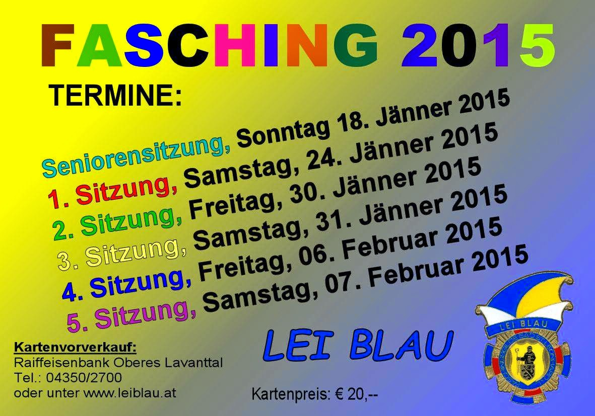 Lei Blau 2015 - Fasching in Bad St. Leonhard