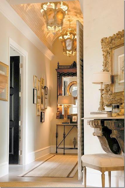 traditional hallway foyer design
