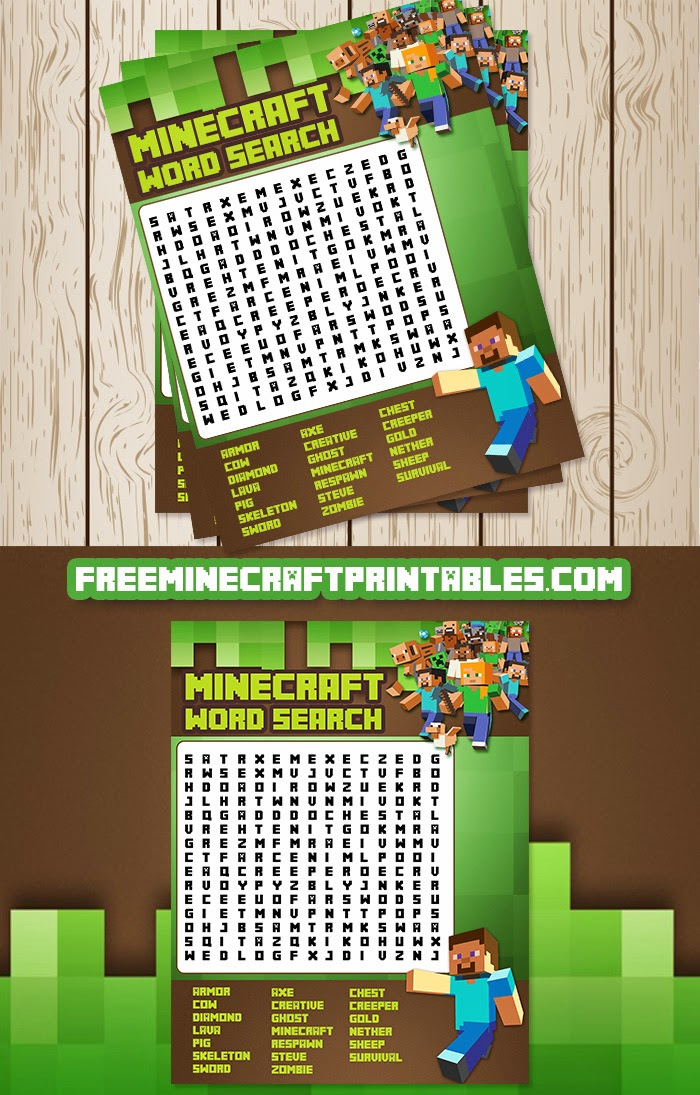 Free minecraft printables for Free mind craft games