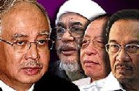 Najib, Anwar, Hadi & Kit Siang
