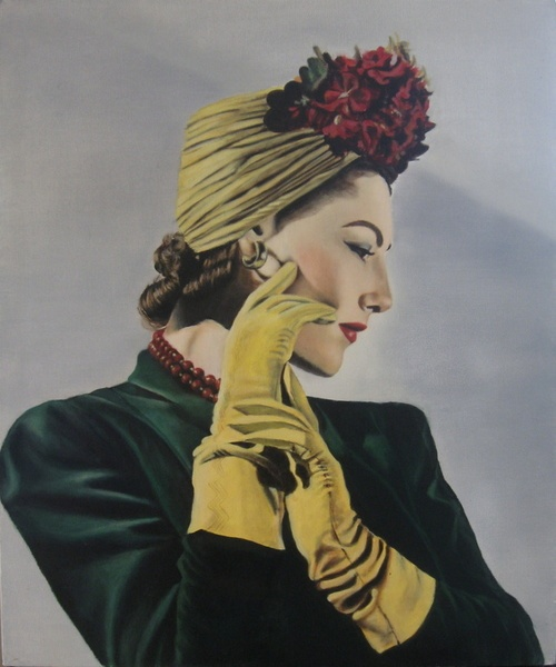 Vogue 1941 #vintage #fashion #1940s #style #turban #gloves