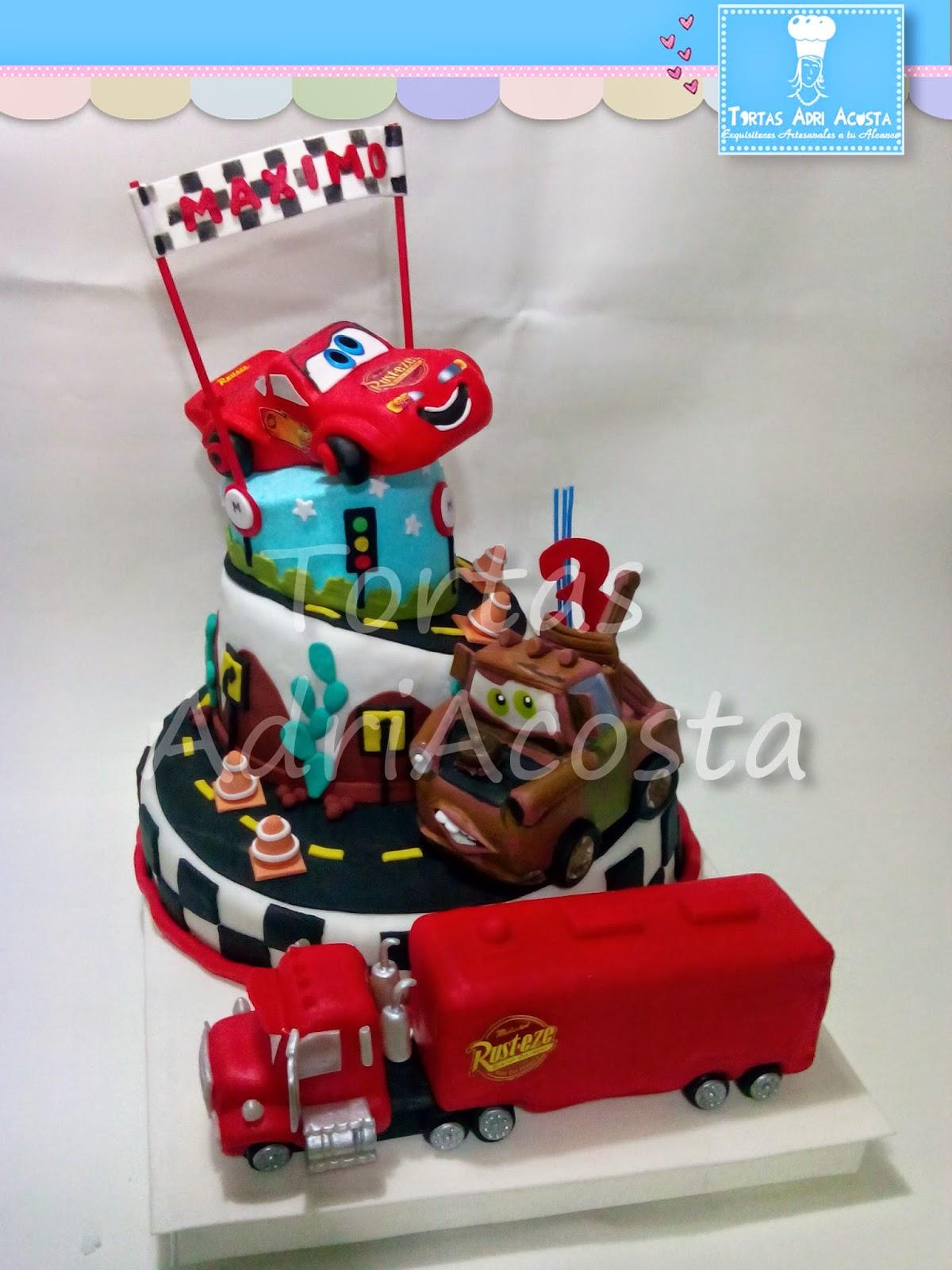 tortas adriana acosta infantiles tortas de cars holidays oo
