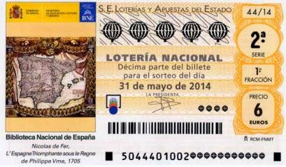 Lotería Nacional del sábado 31 de mayo de 2014