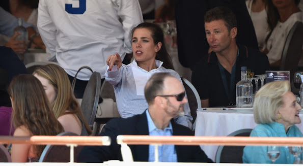 Princess Caroline of Hanover and Prince Albert II of Monaco and Charlotte Casiraghi