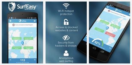تطبيق لإخفاء هويتك وال IP وإلغاء حظر التطبيقات والمواقع للأندرويد SurfEasy VPN for Android
