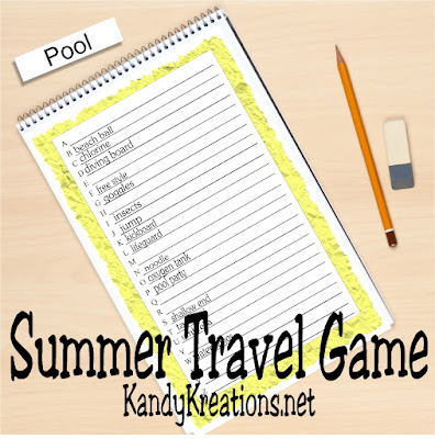 """Give the kids a fun and easy travel game on your summer road trips with this free printable game.  The kids will love the activity and you'll love the lack of """"are we there yet?"""""""