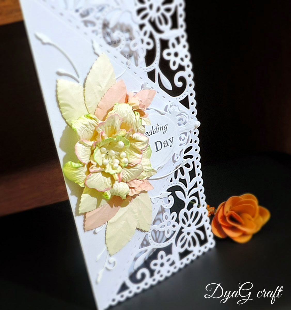 invitatie nunta tema alb dantela ivoire