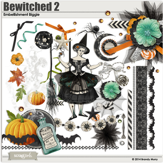 Digital Scrapbooking Halloween Kit