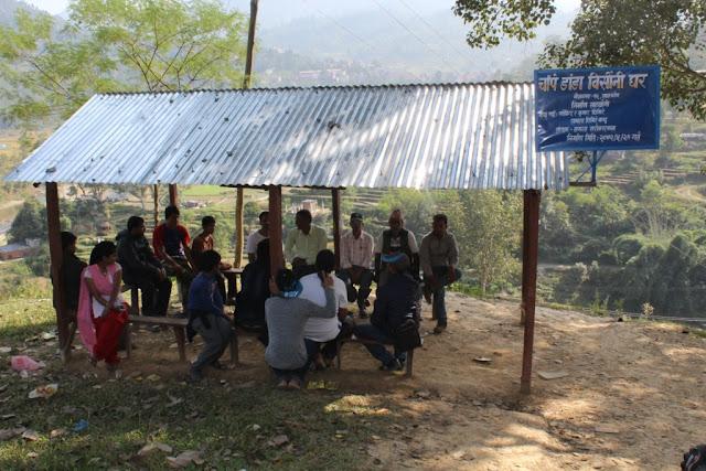 धादिंग सांकोषमा निर्मित चौपे डाँडा बिसौनी घर