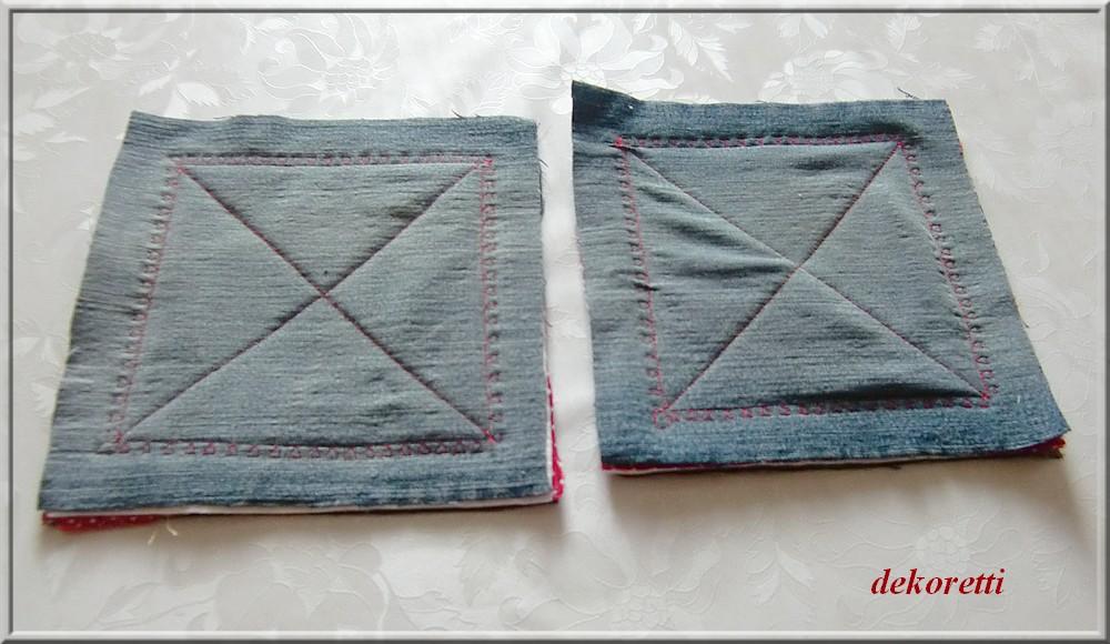 dekoretti´s Welt: Topflappen aus alten Jeans nähen ...