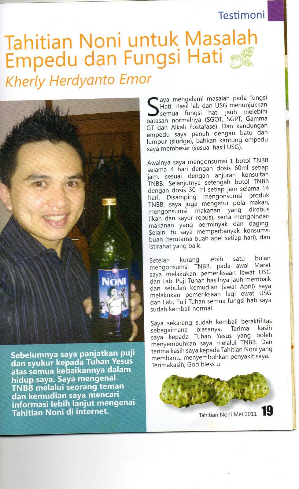 Tahitian Noni Cianjur Indonesia 1 Botol Kamis 18 Agustus 2011