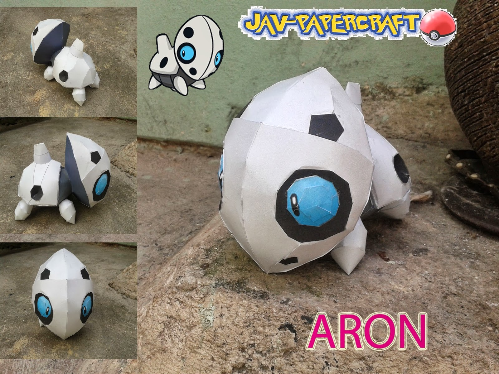 Pokemon Aron Paper Model
