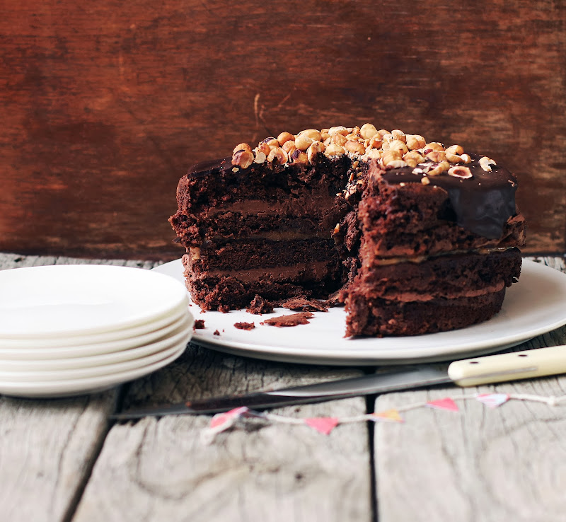 Milk and Honey: Chocolate Layer Cake with Homemade Dulce ...