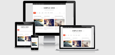 Simple Grid Responsive Blogger Template 2015