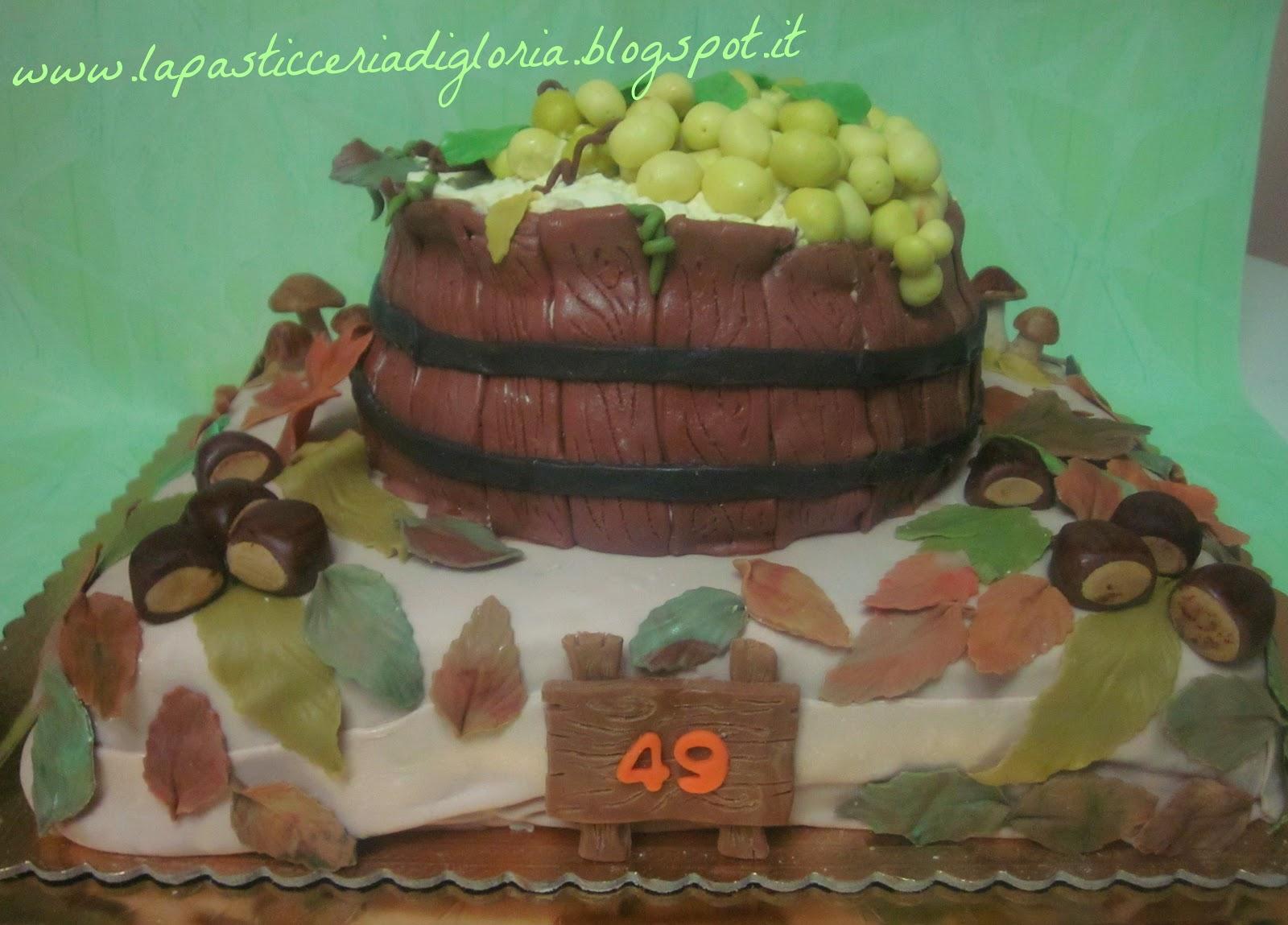 Pranzo Di Compleanno Autunnale : La pasticceria di gloria torta ispirata all autunno e alla vendemmia