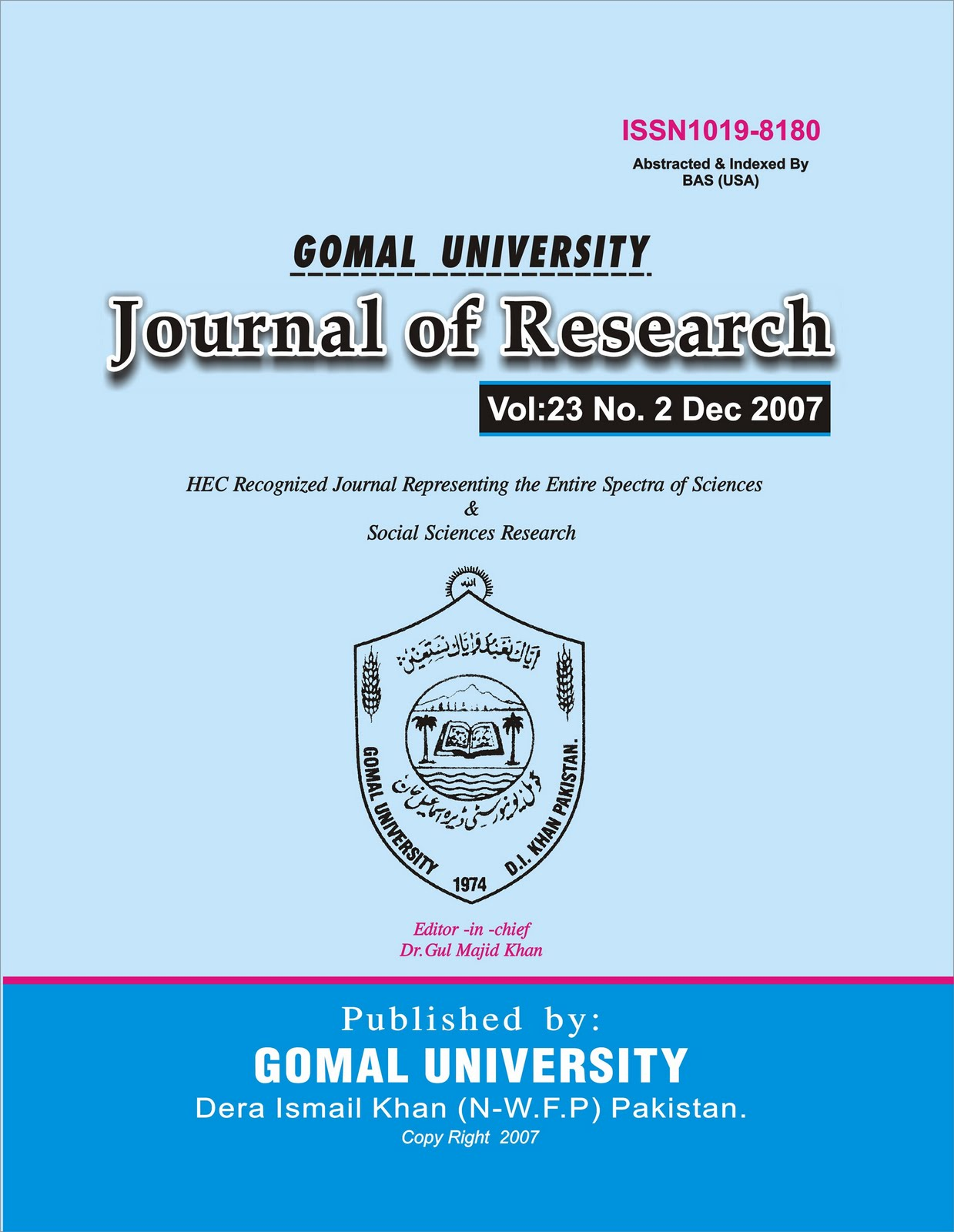 Gomal university journal of research