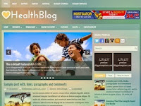 HealthBlog - Premium Blogger Templates Free Download