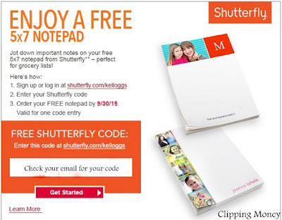 Enjoy a FREE shutterfly notepad