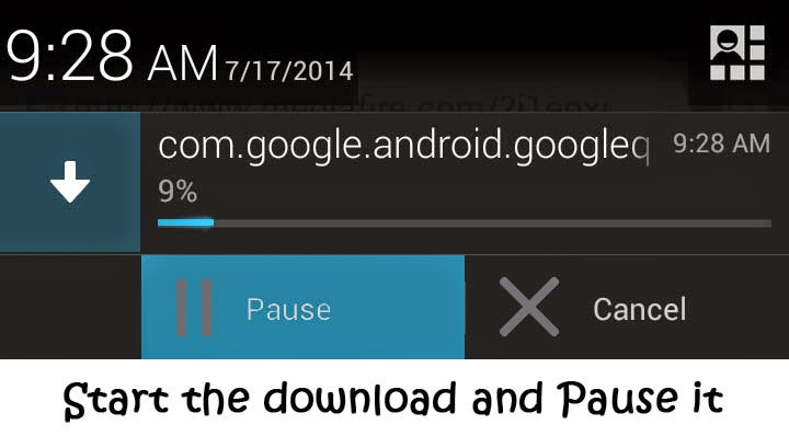 pause a download on pc and resume it on a smartphone