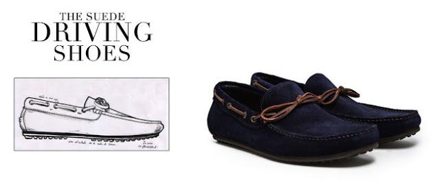 driving shoes azules mango