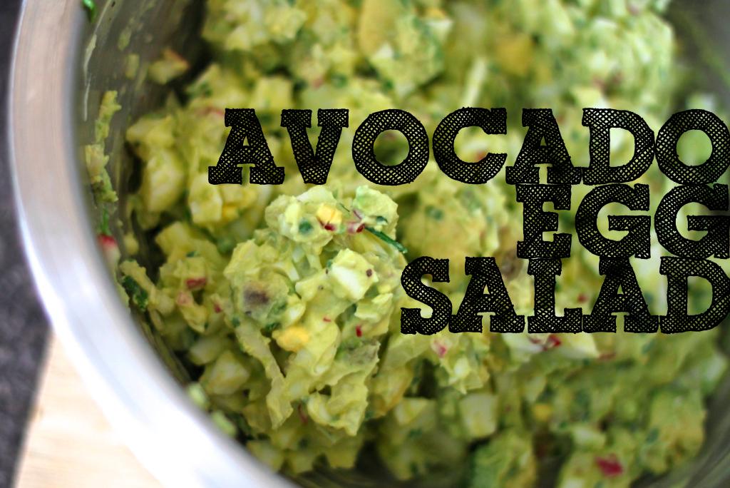 Jenessa's Dinners: avocado egg salad