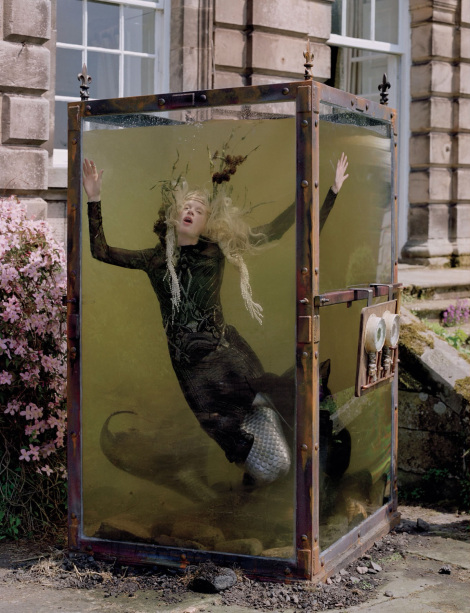 Kristen McMenamy as a Mermaid in W Magazine by Tim Walker