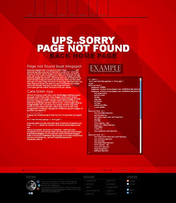 bikin page error not-found