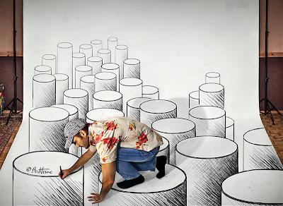 Ben Heine 3D Art - Making of (Pencil Vs Camera)