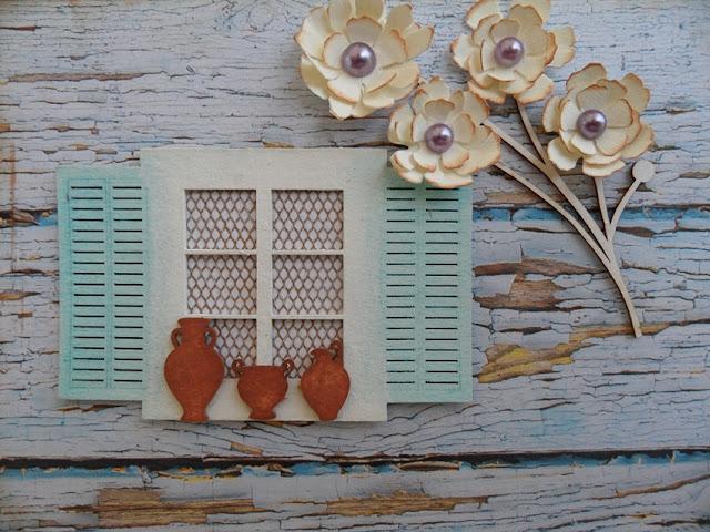 kartka handmade z okienkiem