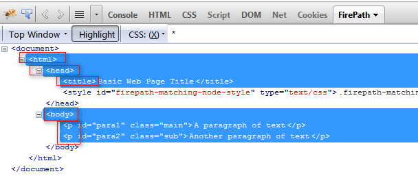 how to find css selector in firefox