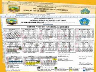 Format Excel Kalender Pendidikan dan Perhitungan Hari Efektif Sekolah Non Kurikuler 2016