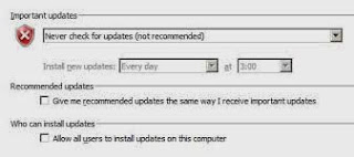 mematikan windows autoupdate