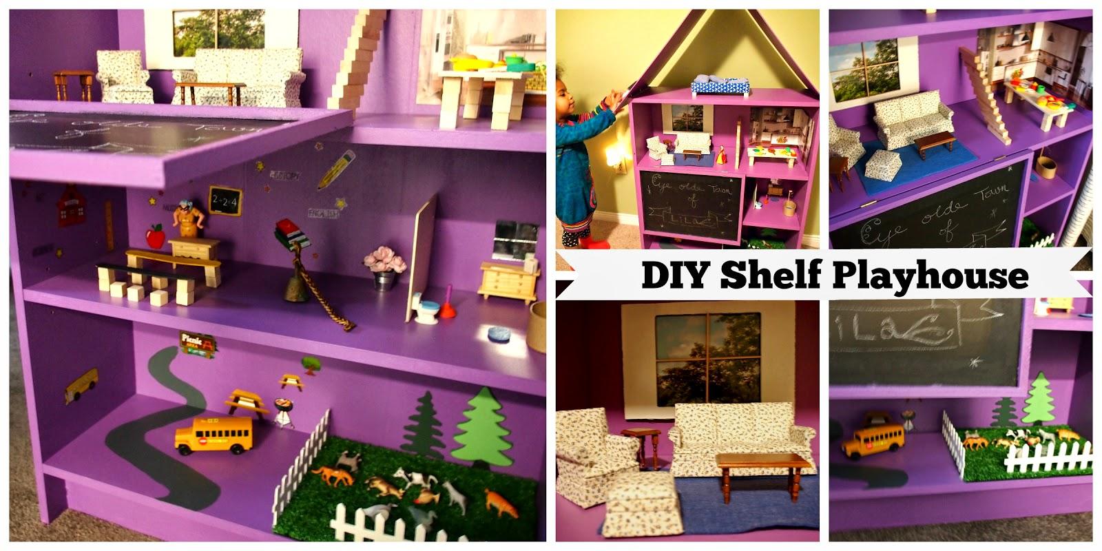 DIY Kids Dollhouse From An Old Bookshelf