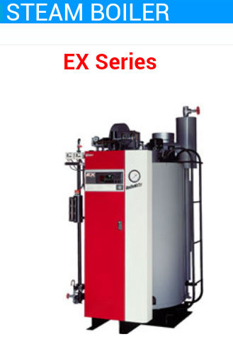STEAM BOILER EX series GAS SUPPORT