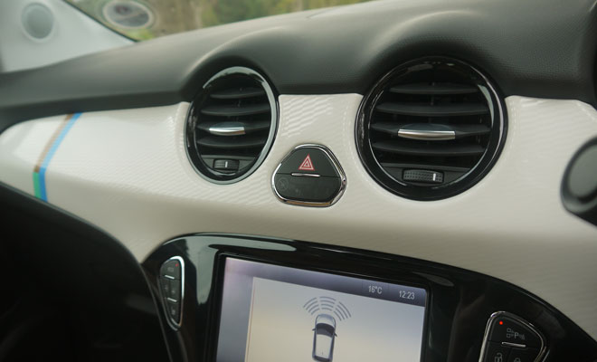 Vauxhall Adam Rocks Air dashboard detail
