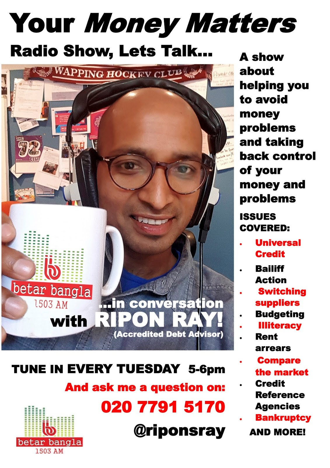 Ripon's Radio Promotional Poster
