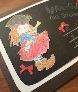 [DIY] Zur Einschulung: Karte Little Pirate Girl