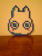 This is the little Totoro I made at the Pixel art workshop