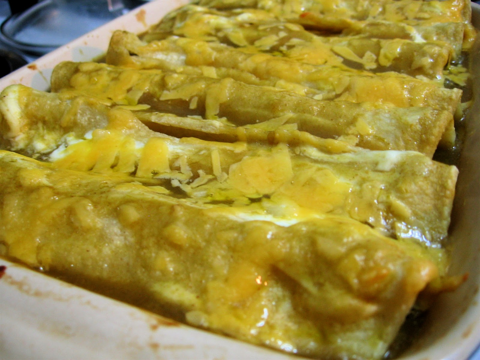 Recipes For Laughter: Enchiladas Suizas (Verdes)