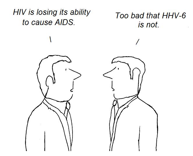 cartoon, hhv-6, aids, hiv, cfs, gallo, fauci, knox, chronic fatigue syndrome