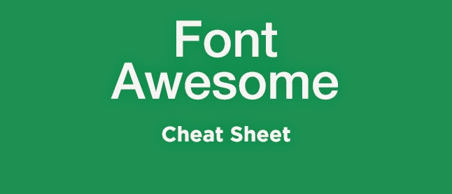 Font Awesome Cheat Sheet