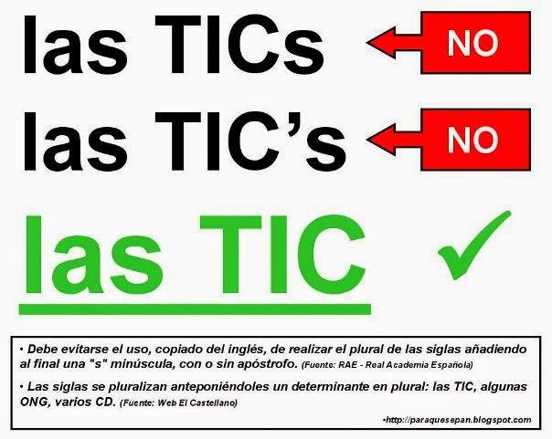 """Es las TIC, sin """"s"""""""