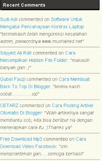 Cara Membuat Recent Comment Di Blogger