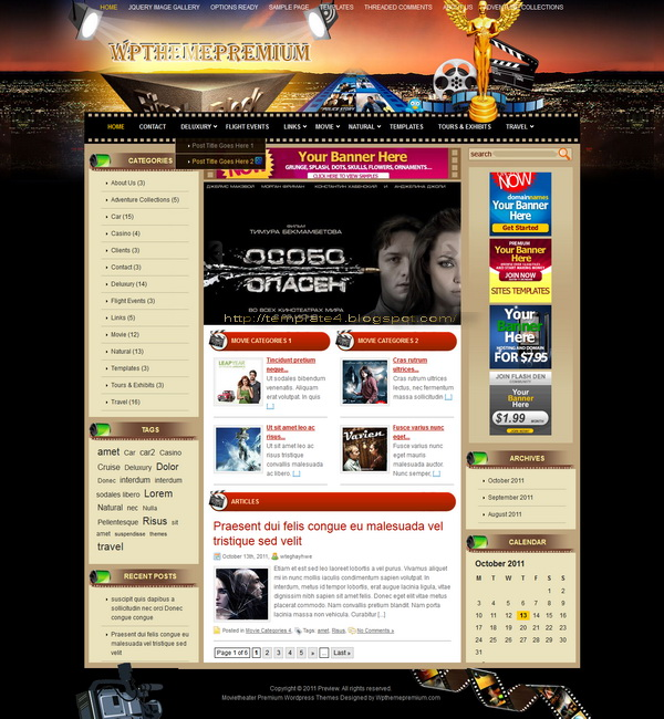 Movietheater WordPress Theme