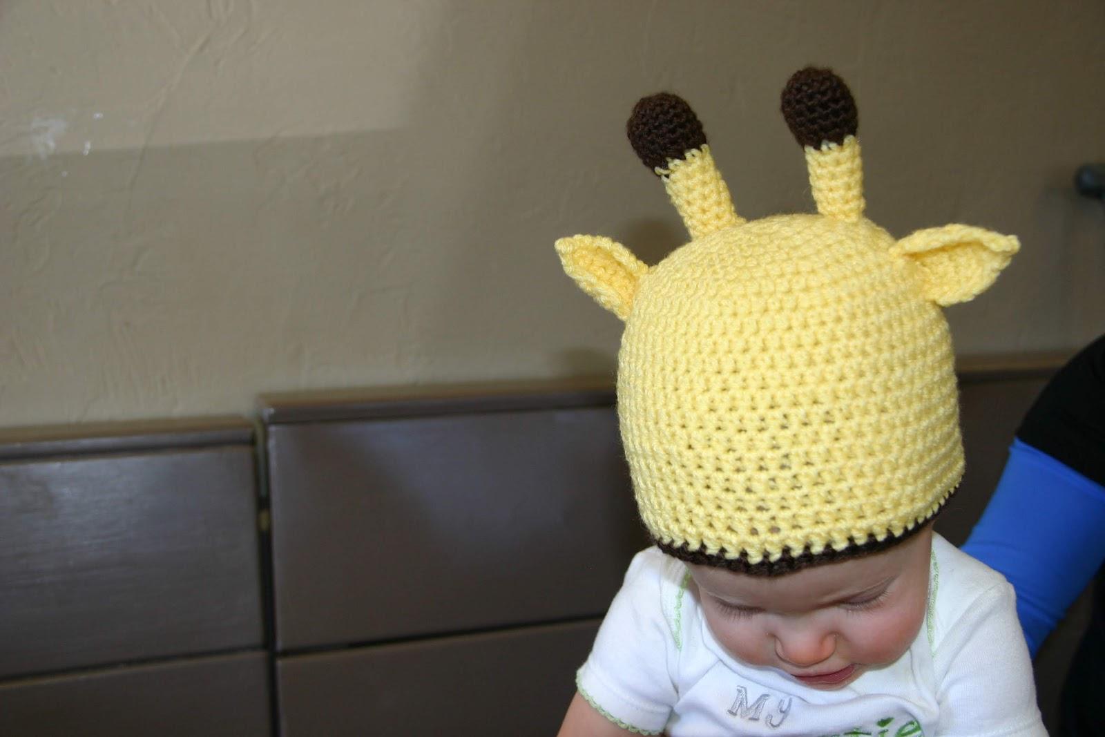 Free Crochet Pattern Giraffe Hat : Think Crafty Thoughts: Baby Giraffe Hat