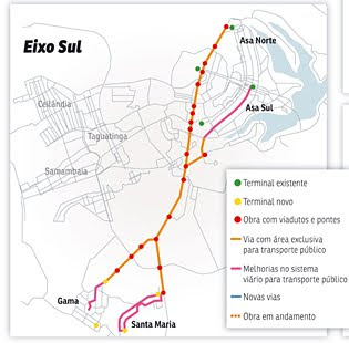 Mapa do VLP Gama e Santa Maria DF